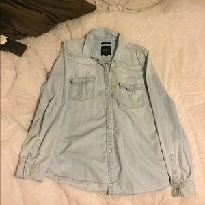 American Eagle Button Down Denim Shirt